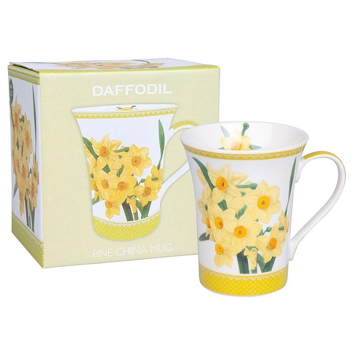 Botanical Daffodil Fine China Mug Gift Boxed from The Leonardo Collection 93756