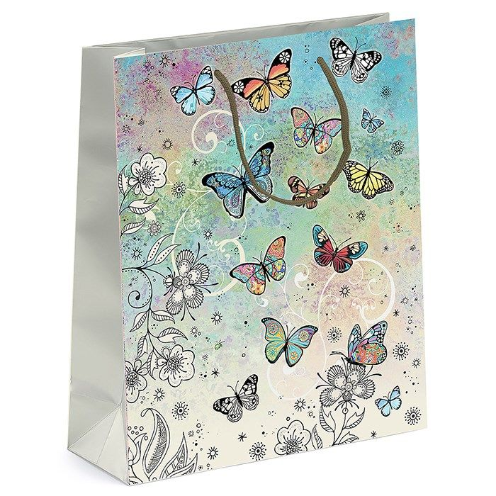 Bug Art Collection Large Butterfly Gift Bag