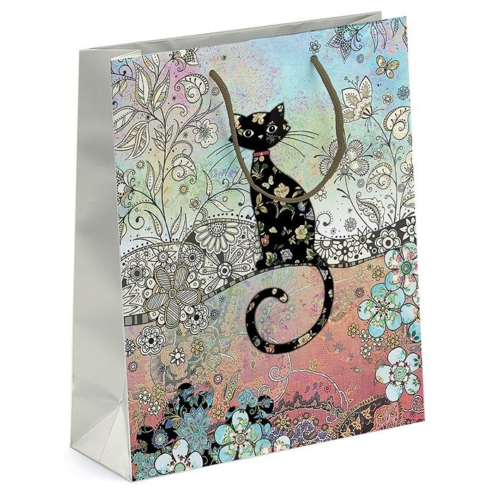Bug Art Collection Large Cat Gift Bag