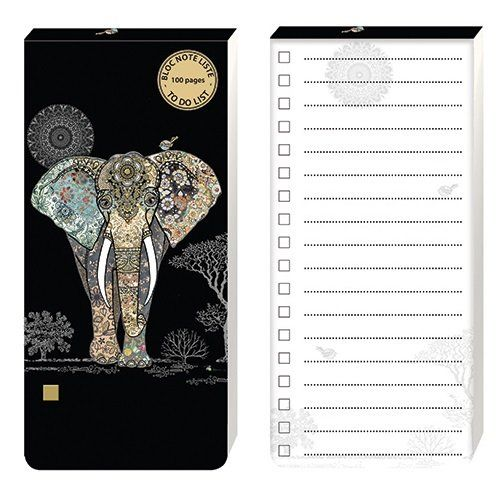 Bug Art Collection Elephant To Do List Paper Pad