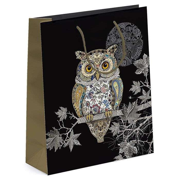 Bug Art Collection Medium Owl Gift Bag