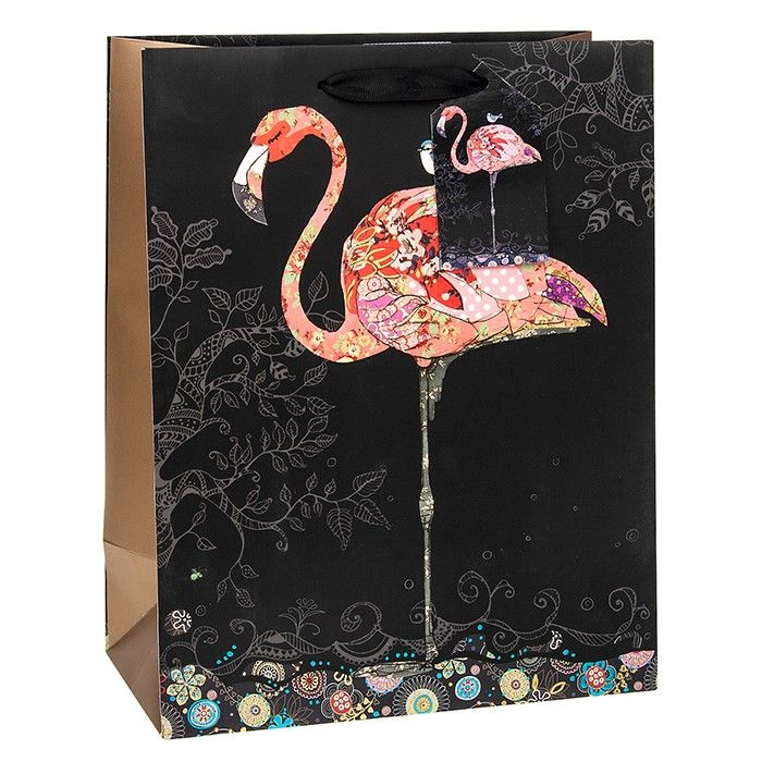 Bug Art Collection Large Pink Flamingo Gift Bag