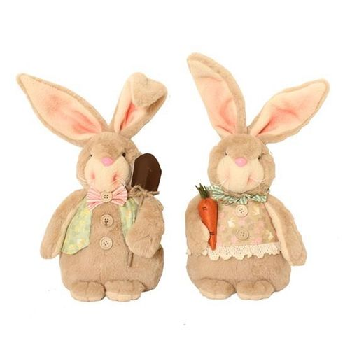 Bunny Blooms Dumpy Bunnies Easter Decor Figures - Set of 2