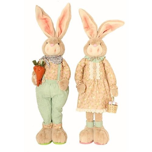 Bunny Blooms Extra Large Standing Figures - Set of 2