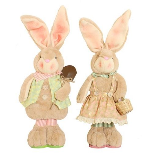 Bunny Blooms Medium Standing Figures - Set of 2