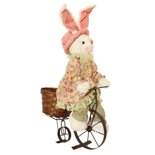 Bunny on Bike Easter Décor Decoration Figure Bunny Blooms