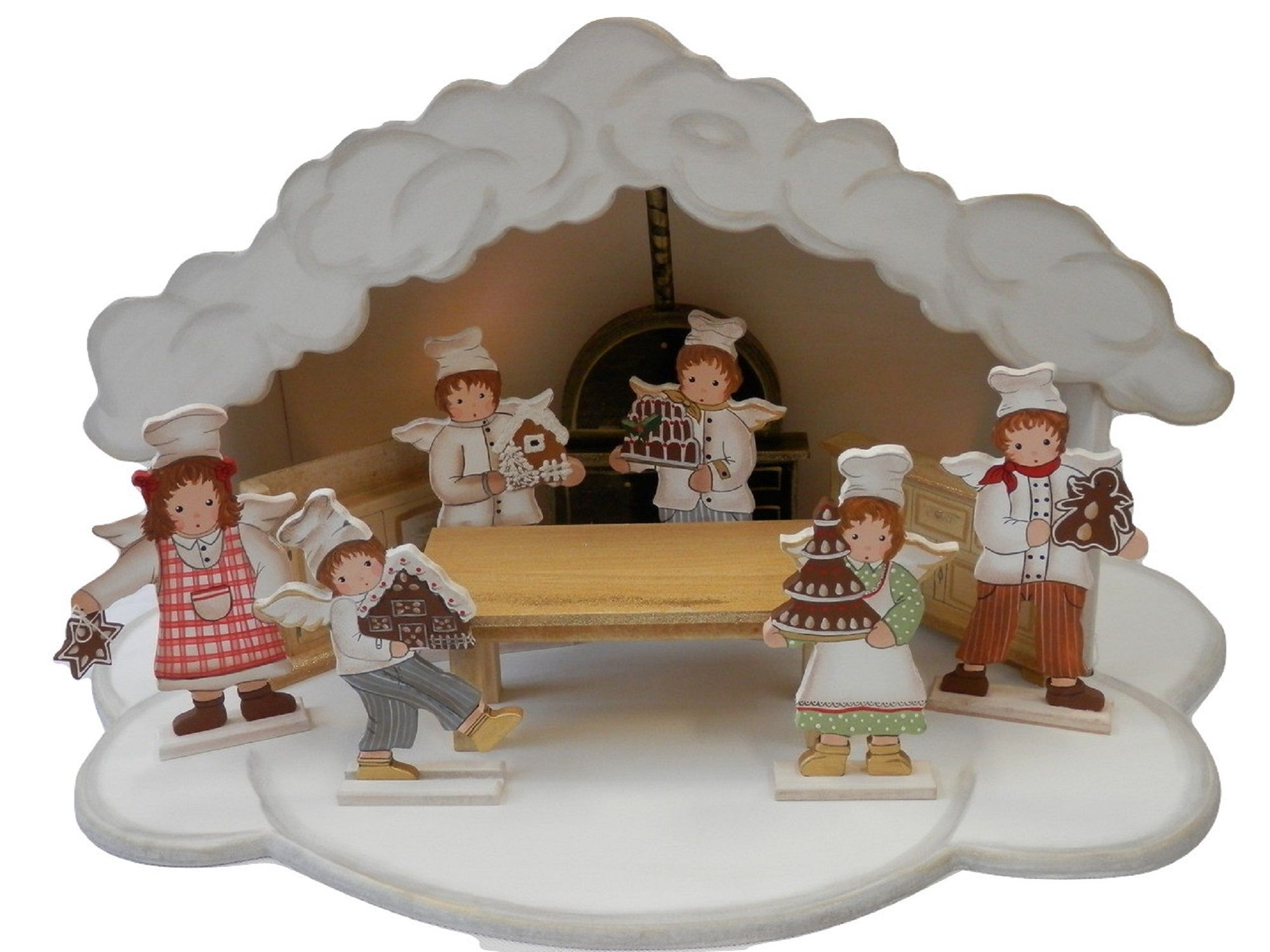 Christmas Cloud Bakery with Furniture & Figures