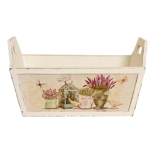 Country Lavender Plant Trough with Handles