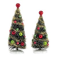 Department 56 Glitzy Holiday Trees - Set of 2