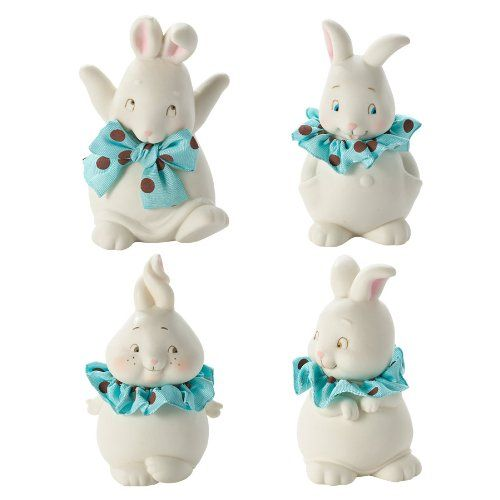 Dottie Boy Bunnies Small Figurines - Set of 4
