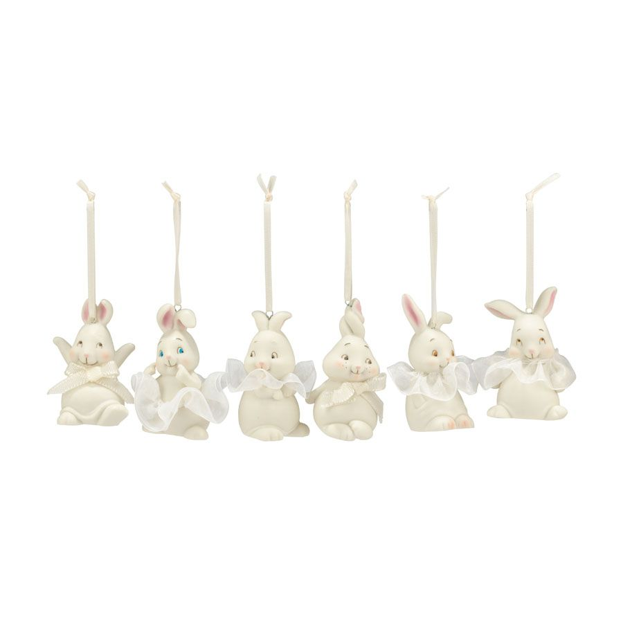 Department 56 Dottie Mini Display Easter Hanging Ornaments 4025810 Set of 6