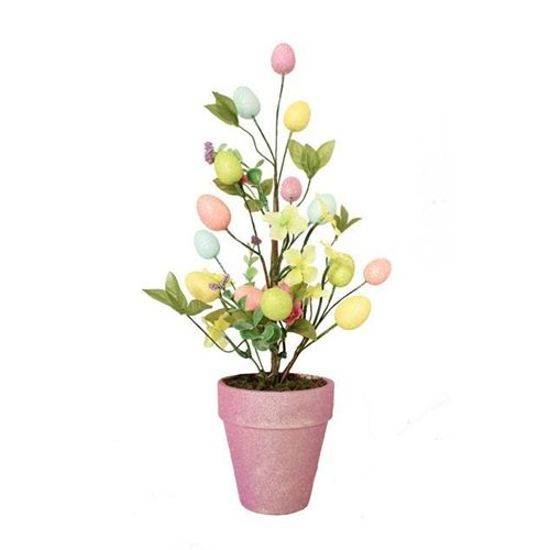 Easter Egg Small Decorated Tree - Ideal for Tabletops, Easter Table Settings and more