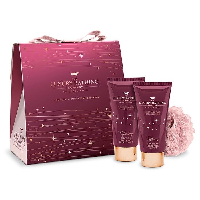 Elderflower, Cassis & Lemon Blossom Sparkle and Shine Christmas Beauty Gift Set - The Luxury Bathing Company by Grace Cole