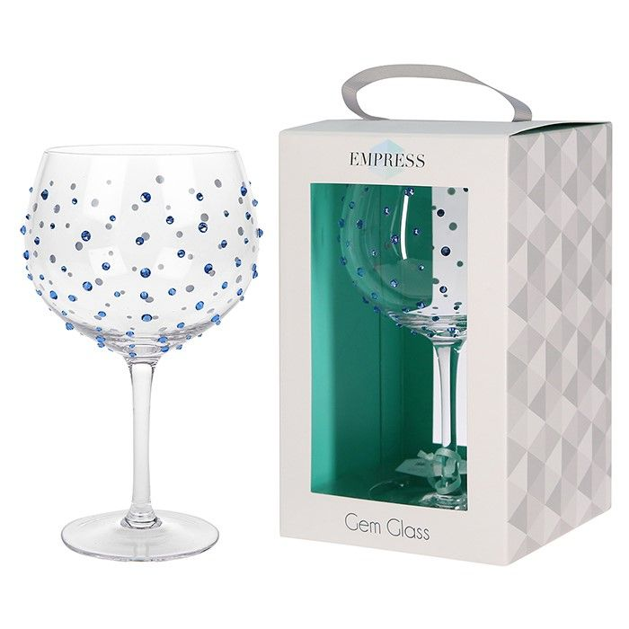 Empress Sapphire Gin and Tonic Gemstone Glass Balloon - Gift Boxed
