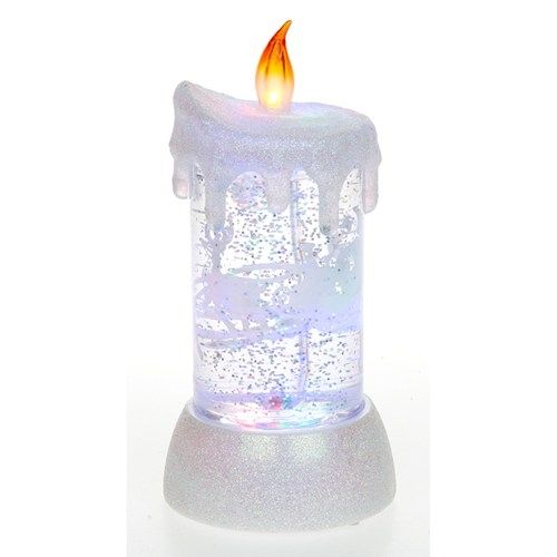 LED Snowstorm Sleigh Candle