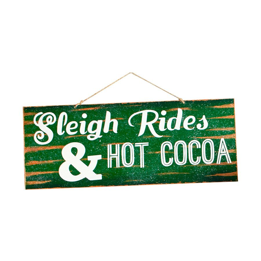 Department 56 Sleigh Rides Large Christmas Wooden Wall Sign 4043495