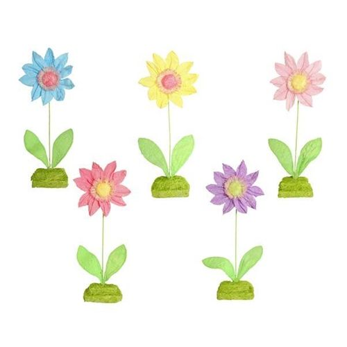 Sunny Days Set of 5 Standing Flowers