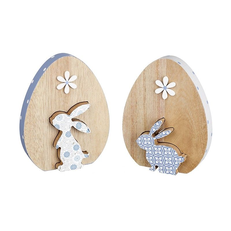 Wooden Cutout Easter Rabbit Egg Decoration Design Mix