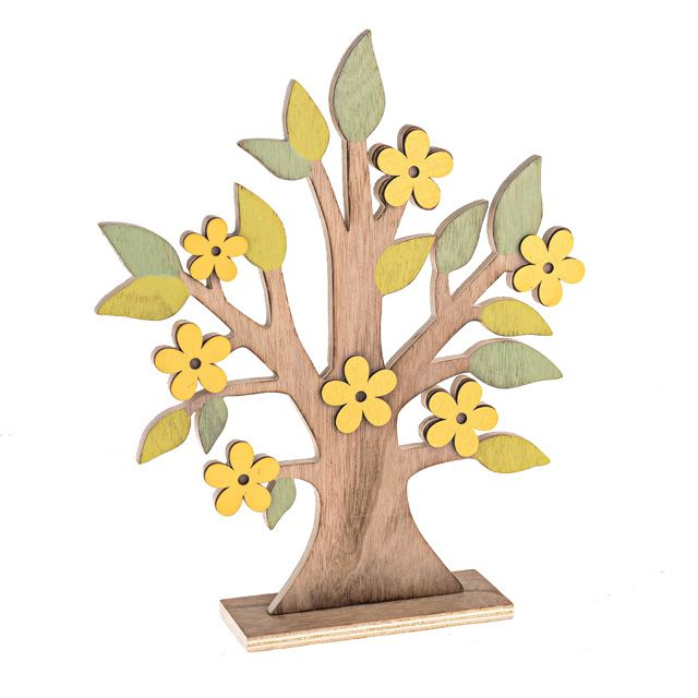 Wooden Spring Tree Decoration - Ideal for tabletops and more